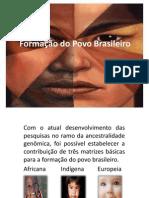Trabalho de Sociologia Apresentação formação do povo brasileiro