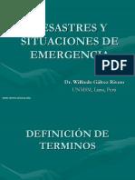 Desastres y Situaciones de Emergencia