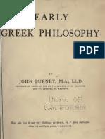 Early Greek Philosophy - John Burnet (1908)