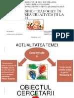 Condiții psihopedagogice în dezvoltarea creativit