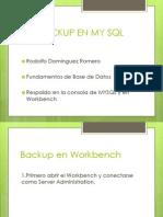 Backup en My SQL