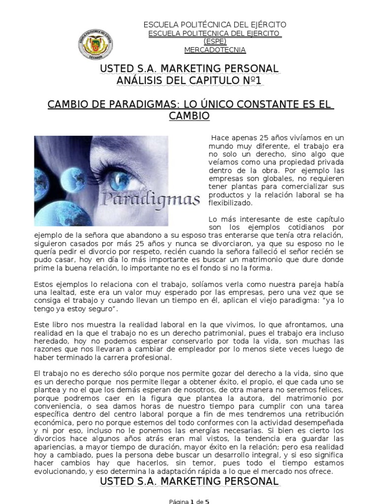 Analisis Libro Usted s.a.