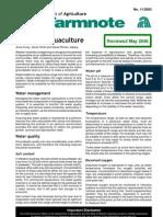 Farmnote_Water for Aquaculture 2003