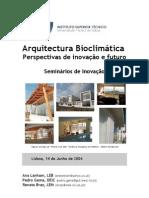 Handbook Arquitectura Bioclimatica Perspectivas de Inovacao e Futuro