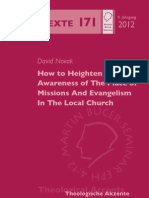 How to Heighten Awareness of the Place of Missions and Evangelism in the Local Church - David Novak