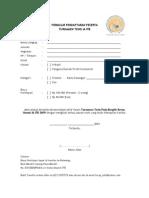 Formulir Pendaftaran Peserta Tenis IA-ITB