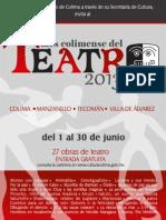 Programa General del Mes Colimense del Teatro 2013