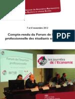 Compte-rendu du Forum de l'insertion professionnelle des étudiants en économie