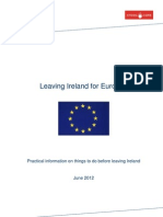 Leaving Ireland for Europe