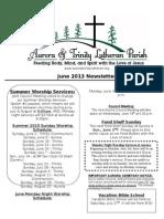 Aurora-Trinity Newsletter June13