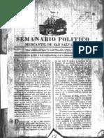 Semanario Politico Mercantil de San Salvador 1824
