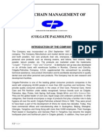 Supply Chain Management of Colgate Palmolive