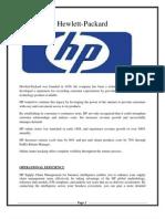 SCM of Hewlett Packard