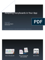 Session 407 - Adopting Storyboards in Your App