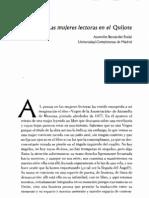 Las mujeres lectoras en el Quijote - Asunción Bernárdez Rodal. El Quijote en clave de mujer-es