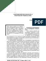 H.Grad y A.I. Vergara 2003 Cuestiones Metodológicas en la Investigación Transcultural