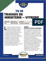 DTU39 miroiterie - vitrerie