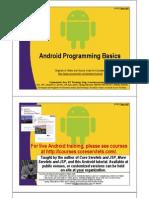 Android Programming Basics