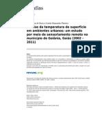 Confins 7631 15 Analise Da Temperatura de Superficie Em Ambientes Urbanos Um Estudo Por Meio de Sensoriamento Remoto No Municipio de Goiania Goias 2002 2011