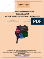 Desarrollo Económico Local. DURANGALDEA. ACTUACIONES PREVENTIVAS ANTICRISIS (Es) Local Economic Development. DURANGALDEA. ANTI-CRISIS PREVENTIVE ACTIONS (Es) Tokiko Ekonomi Garapena. DURANGALDEA. AURREA HARTZEKO EKINTZAK KRISIAREN AURKA (Es)