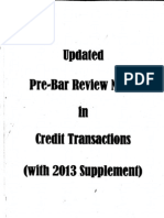 Civ - Updated Pre-bar Notes - Credit