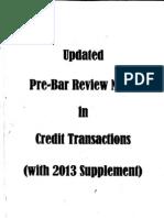 Civ - Updated Pre-bar Notes - Credit