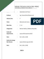 Informe 7 Momento de Inercia UTP