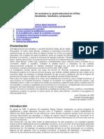 Estabilizacion Economica y Ajuste Estructural Peru