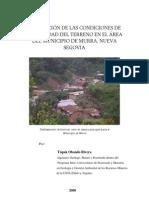 Condiciones Estabilidad Terreno Municipio Murra