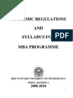 Final Updated New Syllabus MBA BPUT 2008-10