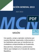 PRESENTACIÓN CORTA MCN 2013