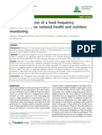Relative Validation of a Food Frequency