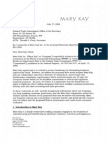 Mary Kay Letter to the Federal Trade Commission