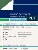 2.1 Proceso Simplex Caso Maximizacion