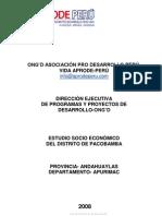 Estudio Socioeconomico Pacobamba Total