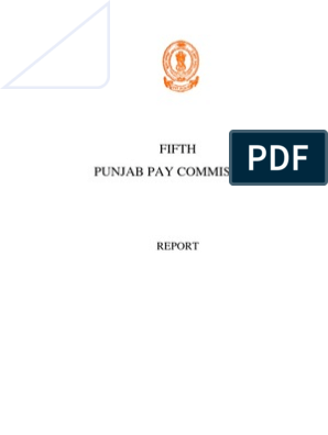 Report 5th Punjab Pay Commission | Government Budget Balance