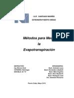 5 métodos para medir la evaporación