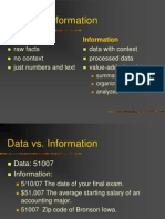 Data vs. Information tug