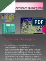 Materiales quirúrgicos