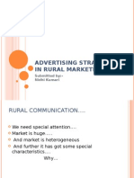 Advertising Strategies in Rural Marketing
