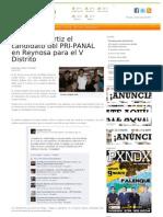 08-04-2013 Es Rogelio Ortiz El Candidato Del PRI-PANAL en Reynosa Para El v Distrito