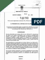 Decreto 605 Del 01 de Abril de 2013