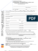 Senior Conference 2013 Forms