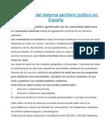 Estructura del sistema sanitario publico en España