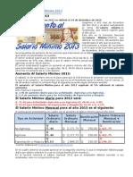 Aumento a Salario Mínimo 2013