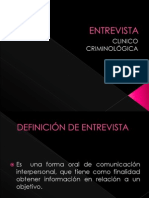 ENTREVISTA CLINICO CRIMINOLOGICA