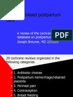 Evidence Based Postpartum