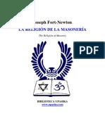 Fort Newton Joseph - La Religion de La Masoneria