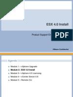 Module 1-2- ESX 40 Install