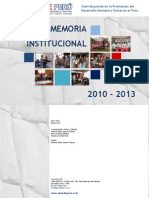 Memoria Institucional APRODE PERÚ  2010 - 2013